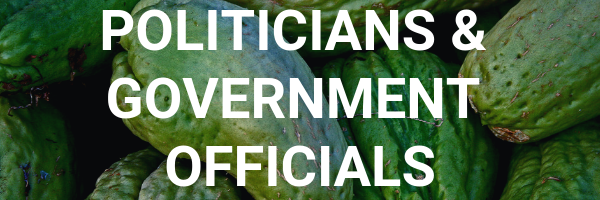 Politicians and government officials button