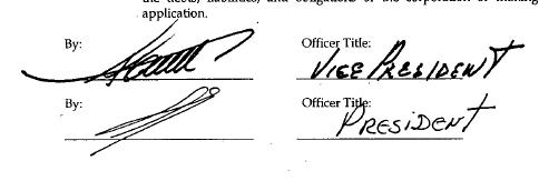 Imagen de firmas sobre la disolución de Mexi-Pan Inc..