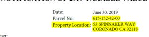 Address of property (Excerpt)